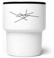 mamsam - mug en porcelaine  / rayures - graphisme polonais