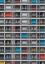 """affiche paris - """"Immeuble Mouchotte"""" - zupagrafika - graphisme polonais"""