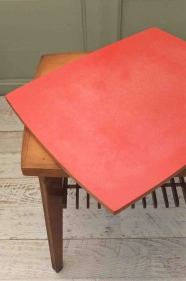 "Table mid-century  ""Rosso"""