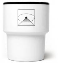 "mamsam - mug en porcelaine ""Tunnel"" - graphisme polonais"