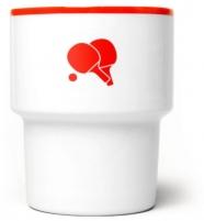 """mamsam - mug en porcelaine """"pingpong """" - graphisme polonais"""
