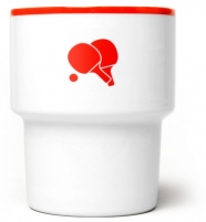 """mamsam - mug en porcelaine """"ping pong"""" - graphisme polonais"""