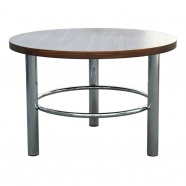 table basse fonctionnaliste ronde aux pieds chromés ST45 - Slezakovy Zavody - design tchèque
