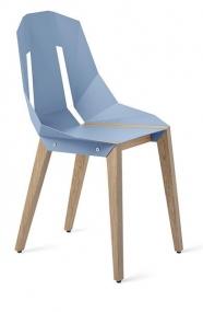 """tabanda - chaise """"Diago""""  bleu pastel - RAL 5024 - design polonais"""