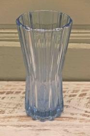 """Vase en verre tchèque des années 60 """"Ice"""""""