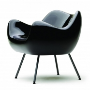 design polonais - roman modzelewski  - fauteuil RM58 classique - noir - vzor