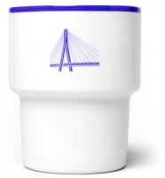 """mamsam - mug en porcelaine """"most""""/pont  - graphisme polonais"""