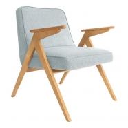 fauteuil bunny - 366 concept - tweed mentos teinte chêne - design polonais