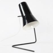 lampe 21616 des années soixante - design tchèque (noir)
