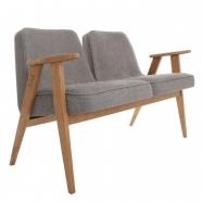 sofa -banquette 366 - 366 Concept - loft (chiné) gris piètement teinte chêne foncé
