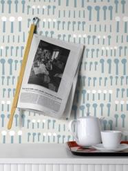lavmi - design tchèque - papier peint Together (3 couleurs disponibles : bleu marine, blanc & gris clair)