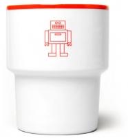 """mamsam - mug en porcelaine """"robot""""  - graphisme polonais"""