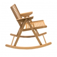 Rocking chair - vernis chêne - design slovène - Rex Krajl