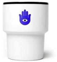 """mamsam - mug en porcelaine """"Hamsa""""  - graphisme polonais"""