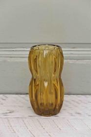 """Vase en verre tchèque des années 60 """"jantar"""""""