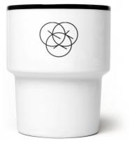 "mamsam - mug en porcelaine ""Kajzerki"" / beignets - graphisme polonais"