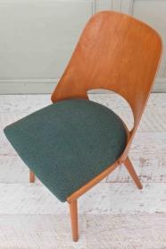 """Lot de 2 chaises TON en bois courbé """"Betwood"""" (vert)"""
