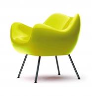 design polonais - roman modzelewski  - fauteuil RM58 classique - jaune - vzor