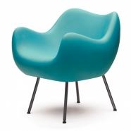 design polonais - roman modzelewski - fauteuil RM58  mat - vert turquoise - VZOR