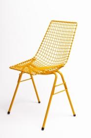 design polonais - chaise Henryk Sztaba - jaune - Mamsam