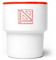 """mamsam - mug en porcelaine """"Equerres""""  - graphisme polonais"""