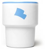 mamsam - mug en porcelaine / paper  - graphisme polonais