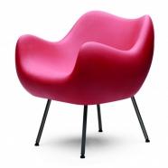 design polonais - roman modzelewski - fauteuil RM58  mat - framboise - vzor