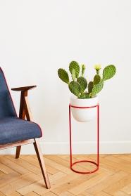 Porte-plantes rouge - design polonais - Elementuj