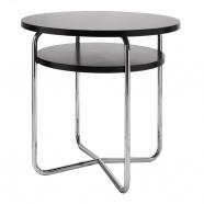 table fonctionnaliste chromée à deux plateaux ST36 II - Slezakovy Zavody - design tchèque