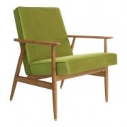 fauteuil fox - H.Lis - 366 concept - velours vert  - teinte chêne foncé - design polonais