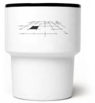 "mug en porcelaine mamsam ""pole"" /terrain - graphisme polonais"