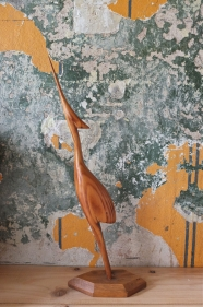 """Figurine en bois des années 60 """"aereo"""""""