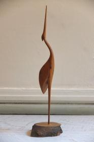 """Figurine en bois des années 60 """"Czapla"""""""