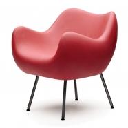 design polonais - roman modzelewski - fauteuil RM58 mat - rouge - vzor