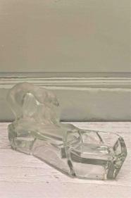 """Ours blanc en verre aux lignes Art déco """"Arctique"""""""