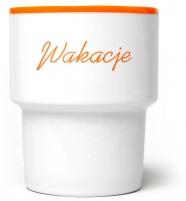 """mug en porcelaine mamsam """"Wakacje"""" / vacances -  design polonais"""