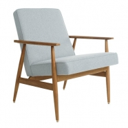 fauteuil fox - H.Lis - 366 concept - tweed mentos  - teinte chêne - design polonais