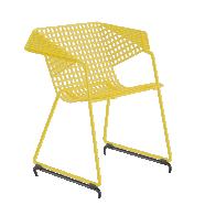 Fauteuil  GRID 55 - résille métal jaune