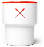 """mamsam - mug en porcelaine """"Wiosła"""" / """"paddles"""" - graphisme polonais"""