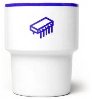 """mamsam - mug en porcelaine """"Tranzystor"""" / transistor - graphisme polonais"""