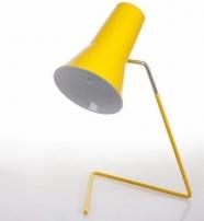 lampe 21616 des années soixante - design tchèque (jaune)