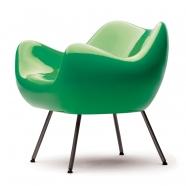 design polonais - roman modzelewski  - fauteuil RM58 classique - vert - vzor