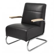 fauteuil fonctionnaliste en cuir K29 - Slezakovy Zavody - design tchèque