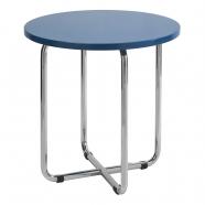 table basse fonctionnaliste chromée