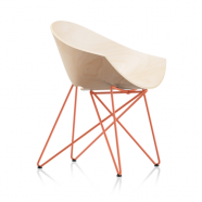 Fauteuil  RM56 WOOD - pieds orange