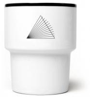"""mug en porcelaine mamsam """"prisme"""" - graphisme polonais"""