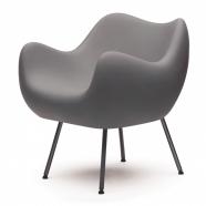 design polonais - roman modzelewski - fauteuil RM58 mat - gris  - vzor