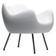 design polonais - roman modzelewski  - fauteuil RM58 classique - blanc - vzor