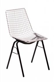 design polonais - chaise Henryk Sztaba - blanc et noir - Mamsam