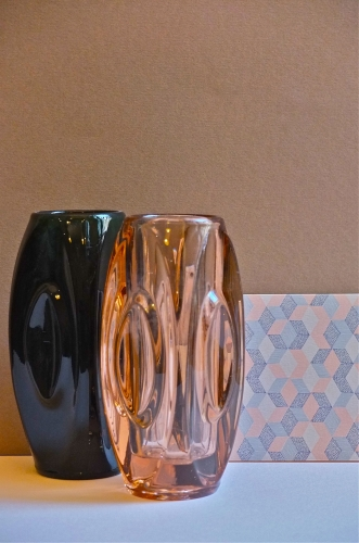 vase en verre tcheque des annes 60 morganite